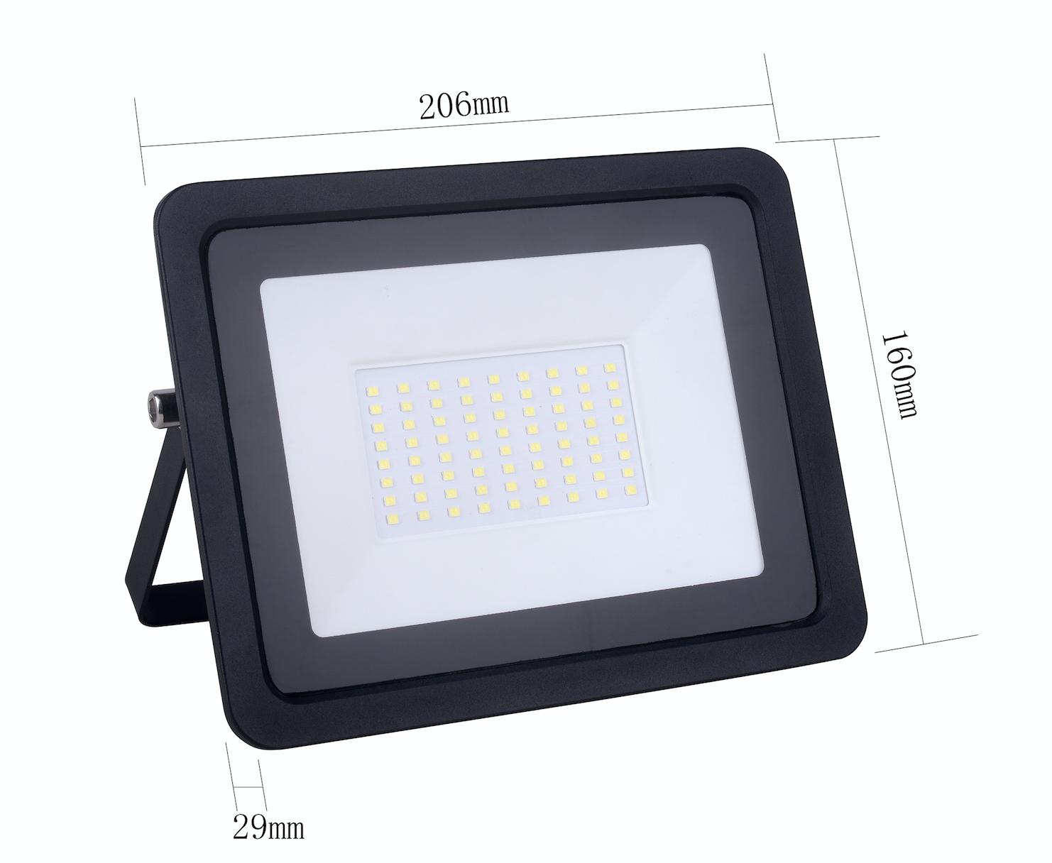 Kraftig svart LED LYSKASTER 70W. Fra Luxnor! Norgeslykten