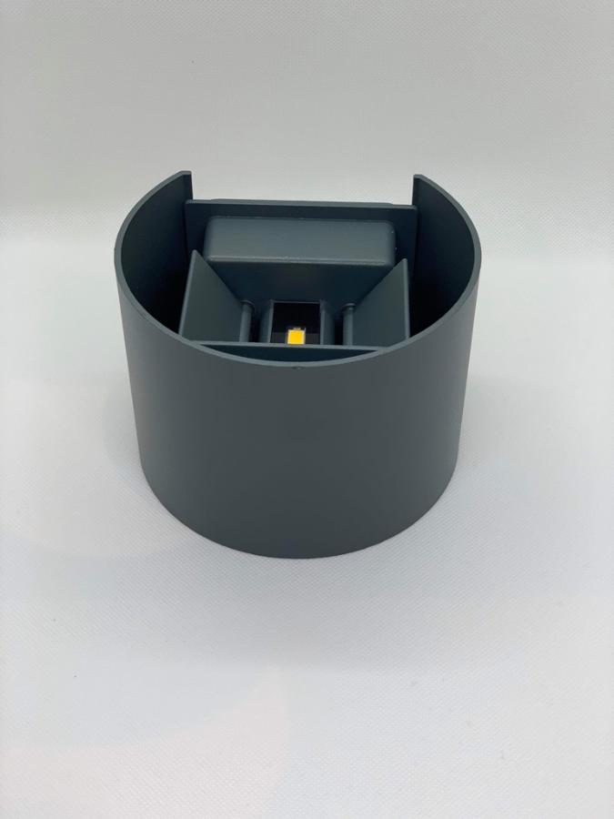 6W Led Ute lampe sort Norgeslykten
